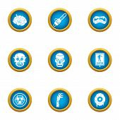Zombie Craving Icons Set. Flat Set Of 9 Zombie Craving Vector Icons For Web Isolated On White Backgr poster