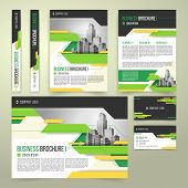 Flyer, Cover Design Of The Companys Annual Business Report, Business Card, Presentation Template Wit poster