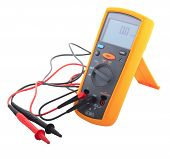 stock photo of gage  - An Insulation tester with reading 0 - JPG