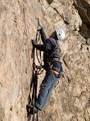 mountaineer on the wall