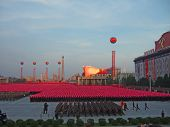 PYONGYANG - SEPTEMBER 5: military parade in the Pyongyang capital of North Korea, September 5, 2008,