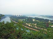 panorama of the Pyongyang capital of the North Korea