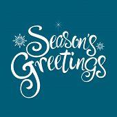 Seasons Greetings Text poster