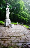 stock photo of seoraksan  - garden statue of Buddha in the Sinheungsa Temple in Seoraksan National Park - JPG