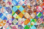 traditional russian patchwork art background