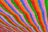 Colorful lanterns background at buddhist temple Seoul Korea