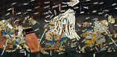 Samurai battle on Japanese Traditional paintings