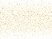 Gold Sparkles Glitter Dust Metallic Confetti Vector Background. Glossy Golden Sparkling Background.  poster