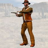 stock photo of vaquero  - Wild West Series: Bad Cowboy