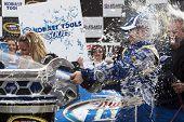 HAMPTON, GA - MAR 7: Kurt Busch in The Miller Lite Penske Dodge wins the running of the Kobalt Tools