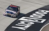 BRISTOL, TN - MAR 19: Dale Earnhardt, Jr. brings his Chevrolet through the turns during a practice s