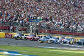 CONCORD, NC - MAY30:  The NASCAR Sprint Cup teams take to the track for the Coca-Cola 600 Race at th