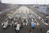 CONCORD, NC - MAR 28:  The Funny Car dragsters their stop at the zMax Dragway for the running of the