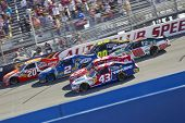 FONTANA, CA - OCT 10:  The NASCAR Sprint Cup Series teams take to the track for the Pepsi Max 400 ra