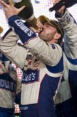 HOMESTEAD, FL - NOV 21:  Jimmie Johnson wins the NASCAR Sprint Cup Championship on Nov 21, 2010 at the Homestead-Miami Speedway in Homestead, FL.