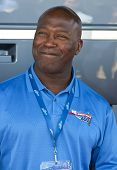 JOLIET, IL - JUL 15: NFL Chicago Bears head coach, Lovie Smith, poses for photos at the USG Sheetrock 400 NASCAR NEXTEL Cup race on July 15, 2007 in Joliet, IL.