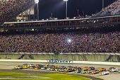 SPARTA, KY - JULY 09:  The NASCAR Sprint Cup Series teams take to the track for the Quaker State 400