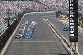 INDIANAPOLIS, IN - JULY 31: The NASCAR Sprint Cup Series teams take to the track for the 18th annual