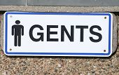 picture of gents  - Gents sign - JPG