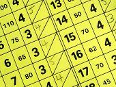 Close up of a short golf course score card.