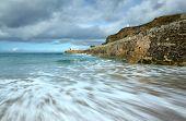 Sea motion long exposure, Portreath pier, Cornwall UK.
