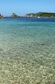 Shallow clear water between Bryher and Tresco, Isles of Scilly.