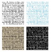 set of seamless handwriting vector textures