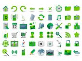 set of 54 green web icon