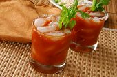 Two Bloody Mary Drinks