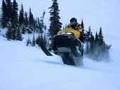 Ski doo in Winter - Action shot