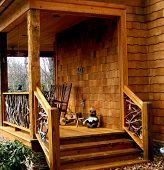 Country Home Deck - Unique Railing
