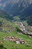 Solden, Austria, small town between ig mountains