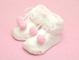 picture of newborn baby girl  -  Cute baby sock - JPG