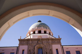 stock photo of pima  - Pima County Courthouse in Tucson - JPG
