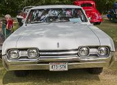 White 1967 Cutlass F85 Car Front View