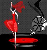 bailarina en rojo