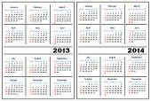 Kalendervorlage. 2013,2014