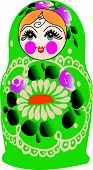 Matryoshka doll in vector,