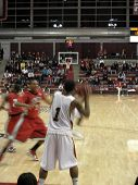 Unlv Vs. Santa Clara: Players Get Moving To Get An Inbound Pass