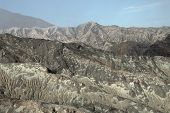 Volcanic Hills With Crevices