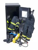 Fireman Outfit In Locker