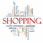 Shopping Word Cloud Concept
