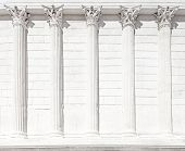 La Maison Carree Roman Temple Column. Nimes, France.