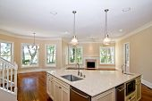 Küche und Wohnbereich mit Blick
