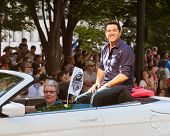 Actor Dean Cain at the annual DragonCon parade