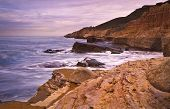 Rocky Cliff and Ocean, San Diego, California
