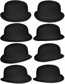 Isolated Black Hats Collection
