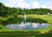 fountain inn a pond