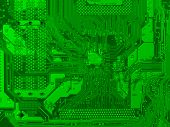 pic of potentiometer  - Detail of an electronic printed circuit board - JPG