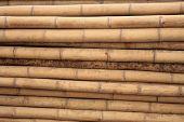horizontale Bambus-Stangen